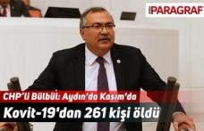 CHP'li Bülbül: Aydın'da Kasım'da Kovit-19'dan 261 kişi öldü