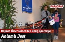 Başkan Ömer Günel'den Genç Sporcuya Anlamlı Jest