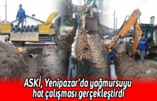 ASKİ, Yenipazar'da yağmursuyu hat çalışması...
