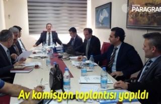 Aydın'da av komisyon toplantısı yapıldı