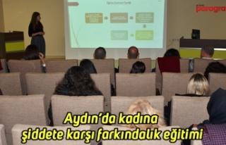 Aydın'da kadına şiddete karşı farkındalık...