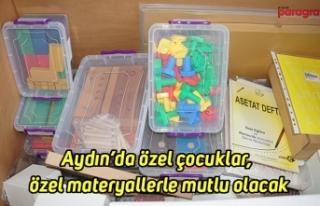 Aydın'da özel çocuklar, özel materyallerle mutlu...