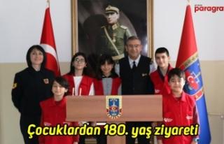 Çocuklardan jandarmaya 180. yaş ziyareti