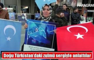Doğu Türkistan'daki zulmü sergiyle anlattılar