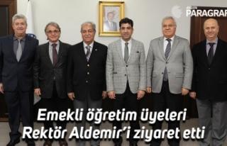 Emekli öğretim üyeleri Rektör Aldemir'i ziyaret...