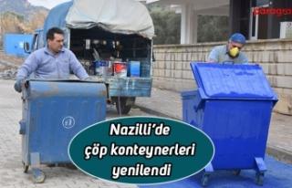 Nazilli'de çöp konteynerleri yenilendi