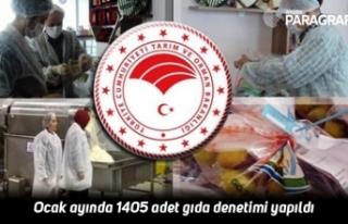 Ocak ayında 1405 adet gıda denetimi yapıldı