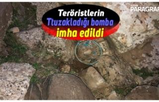 Teröristlerin tuzakladığı bomba bulunarak imha...