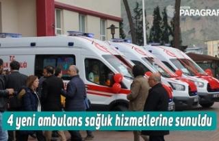 4 yeni ambulans sağlık hizmetlerine sunuldu