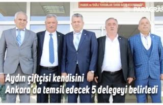 Aydın çiftçisi kendisini Ankara'da temsil edecek...
