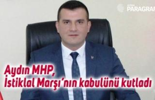Aydın MHP, İstiklal Marşı'nın kabulünü kutladı