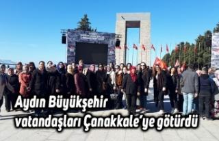 Aydın Büyükşehir vatandaşları Çanakkale'ye...