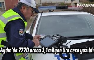 Aydın'da 7770 araca 3,1 milyon lira ceza yazıldı