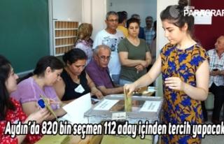 Aydın'da 820 bin seçmen 112 aday içinden tercih...