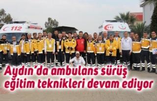 Aydın'da ambulans sürüş eğitim teknikleri devam...