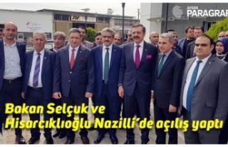 Bakan Selçuk ve Hisarcıklıoğlu Nazilli'de açılış...