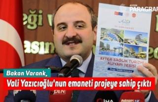 Bakan Varank, Vali Yazıcıoğlu'nun emaneti...