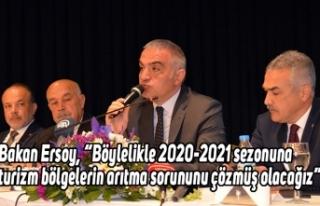 """Bakan Ersoy, """"Böylelikle 2020-2021 sezonuna turizm..."""
