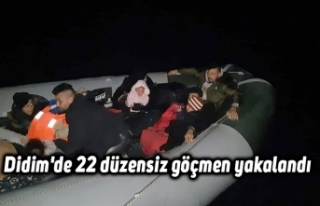 Didim'de 22 düzensiz göçmen yakalandı