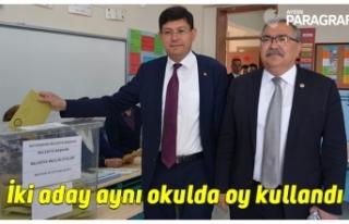 İki aday aynı okulda oy kullandı