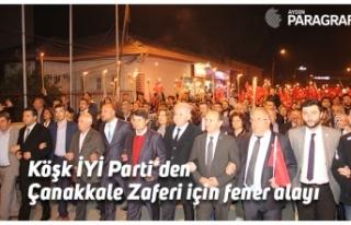 Köşk İYİ Parti'den Çanakkale Zaferi için fener...