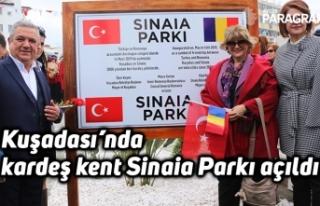 Kuşadası'nda kardeş kent Sinaia Parkı açıldı