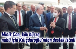 Minik Can, kök hücre nakli için Kılıçdaroğlu'ndan...