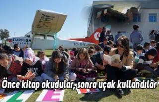 Önce kitap okudular, sonra uçak kullandılar