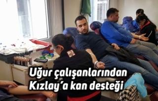 Uğur çalışanlarından Kızlay'a kan desteği