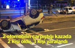 2 otomobilin çarpıştığı kazada 2 kişi öldü,...