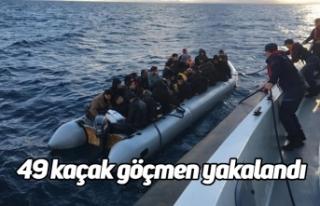 49 kaçak göçmen yakalandı