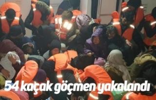 54 kaçak göçmen yakalandı