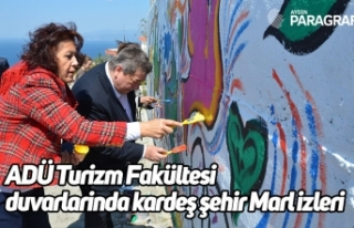 ADÜ Turizm Fakültesi duvarlarinda kardeş şehir...
