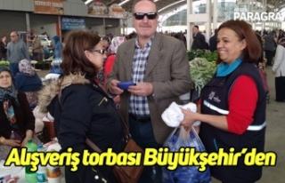 Alışveriş torbası Büyükşehir'den