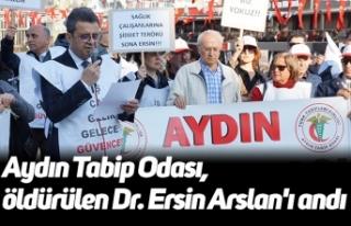 Aydın Tabip Odası, öldürülen Dr. Ersin Arslan'ı...