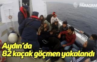 Aydın'da 82 kaçak göçmen yakalandı
