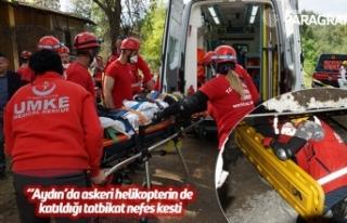 Aydın'da askeri helikopterin de katıldığı tatbikat...