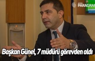 Başkan Günel, Özer Kayalı dönemindeki 7 müdürü...
