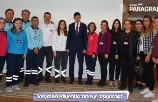 """Başkan Özcan; """"Sosyal belediyeciliği zirveye..."""