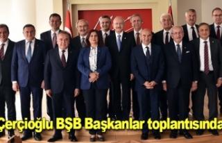 Çerçioğlu BŞB Başkanlar toplantısında