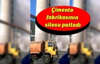 Çimento fabrikasının silosu patladı