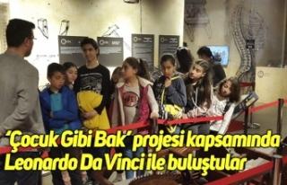 'Çocuk Gibi Bak' projesi kapsamında Leonardo...
