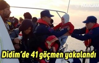 Didim'de 41 göçmen yakalandı