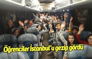 İncirliovalı öğrenciler İstanbul'u gezip gördü