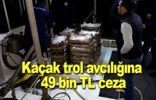 Kaçak trol avcılığına 49 bin TL ceza