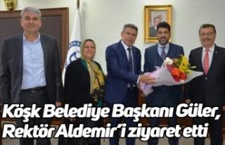 Köşk Belediye Başkanı Güler, Rektör Aldemir'i...