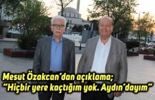 """Mesut Özakcan'dan açıklama; """"Hiçbir yere kaçtığım..."""