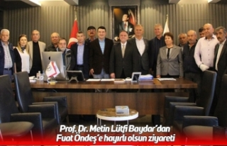 Prof. Dr. Metin Lütfi Baydar'dan Fuat Öndeş'e...