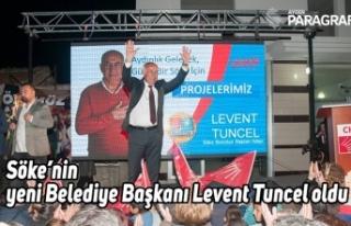 Söke'nin yeni Belediye Başkanı Levent Tuncel...