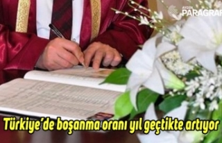 Türkiye'de boşanma oranı yıl geçtikte artıyor